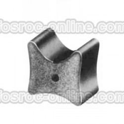 Double cover concrete spacer without wire and fibre reinforced