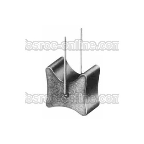 Double cover concrete spacer with wire and fibre reinforced