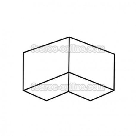 Proofex Esquina interior - Membrana impermeable de polietileno y malla