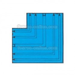 Supercast SL - L Plana - Intersección para empalme de bateaguas de PVC con 2 salidas