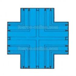 Supercast SL - Cruz Plana - Intersección para empalme de bateaguas de PVC con 4 salidas