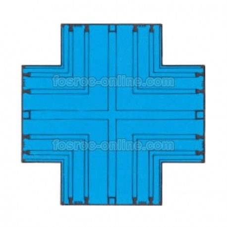 Supercast SL - Flat cross - Accessry for PVC waterstops for joints