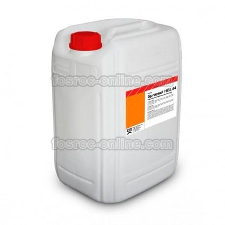 Sprayset HBL44 - Acelerante líquido libre de álcalis para hormigón y mortero proyectados