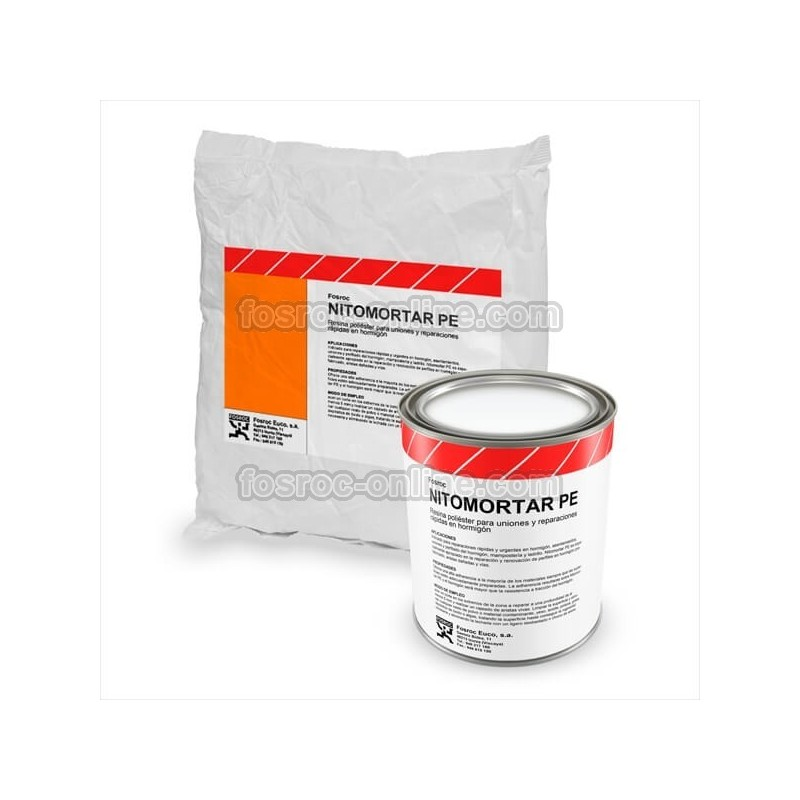 Mortero de resina de poli ster para reparaciones nitomortar pe for Resina para hormigon