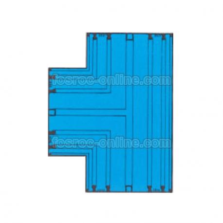 Supercast SL - T Plana - Intersección para empalme de bateaguas de PVC